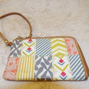 Fossil Half zip around clutch wallet